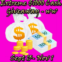 Extreme Cash Giveaway – Win $1000