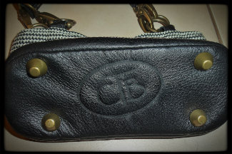 Texas Carpet Baggers Leather Monogrammed bottom