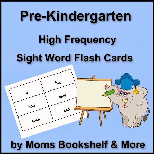 Sight Words Flash Cards Kindergarten Moms Bookshelf Printable