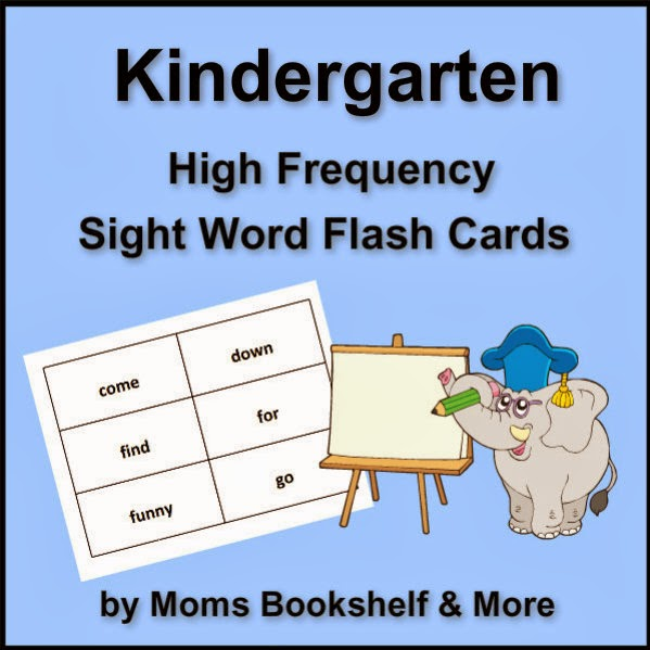free printable sight word flash cards kindergarten moms bookshelf
