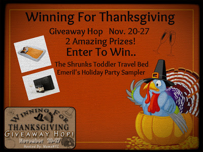 Winning For Thanksgiving Giveaway Hop $110 Prize