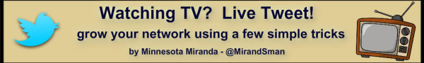 Live TWeting to grow your following with Minnesota Miranda