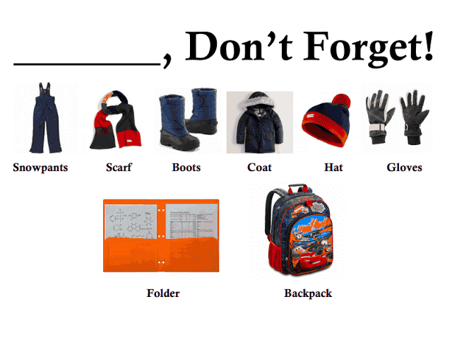 Dressing Order for Winter Dont forget list to keep kids organized