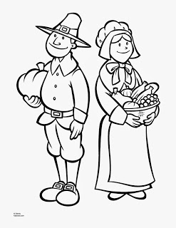 Free Pilgrim Printable Thanksgiving Day Coloring Pages