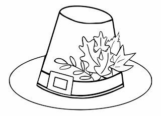 Thanksgiving Day Free Printable Coloring Page Pilgrim Hat