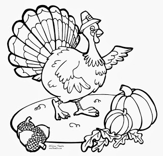 Turkey Coloring Page Printable Thanksgiving Day