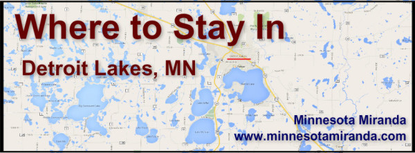 Lodging options for Detroit Lakes, Minnesota