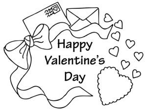 Greeting card mailer Valentines Day Coloring Page Printable