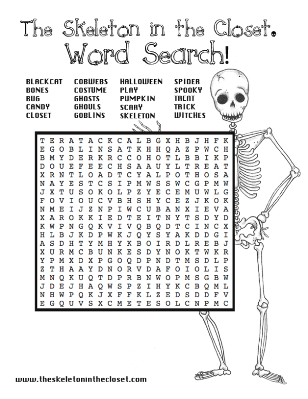 halloween word search - Printable Halloween Word Searches